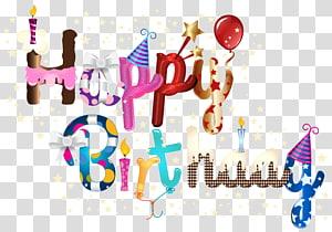 Bolo de aniversário feliz aniversário para você, feliz aniversário, adesivo gráfico de feliz aniversário png