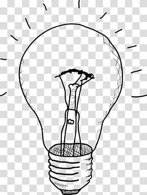 Lâmpada incandescente Desenho Esboço, Lâmpada pintada à mão PNG clipart