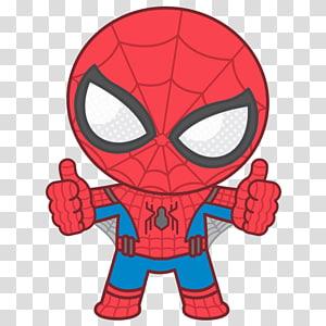 Homem-Aranha no fundo azul, Homem-Aranha Homem de Ferro Marvel Comics Chibi Drawing, Homem-Aranha png