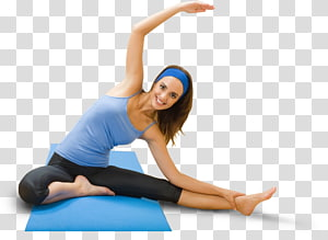 mulher fazendo yoga na esteira, exercício físico perda de peso aptidão física dieta mulher, excersice png