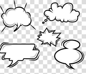 ilustrações de caixa de diálogo, Quadrinhos Balão de fala Desenho animado, explosão de quadrinhos em nuvem Diálogo PNG clipart