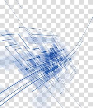 Euclidiano azul, material de fundo abstrato, linha digital azul e branca png