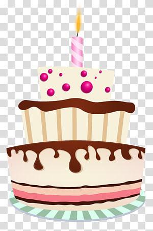 bolo com ilustração de velas, bolo de aniversário Bolo de chocolate, bolo de aniversário com uma vela png