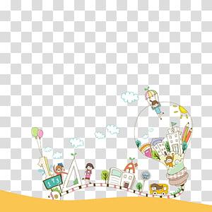 ilustração de edifício de cores sortidas, ilustração de conhecimento de formação de professores, decoração de pôster para o dia do professor png