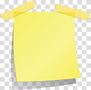 Post-it, papel, quadrado, nota pegajosa, amarela, nota pegajosa, arte digital png