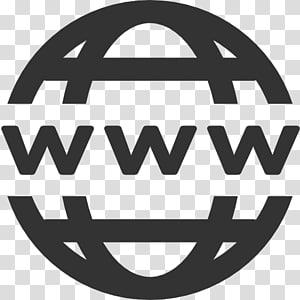 Site de ícones de computador World Wide Web Favicon, Domain, Www Icon, round grey logo www PNG clipart