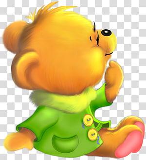 ilustração de urso amarelo, urso dos desenhos animados de fofura de panda gigante, urso bonito dos desenhos animados grátis PNG clipart