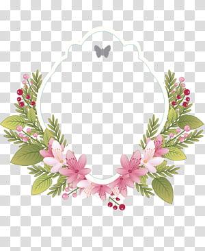 Quadro de roupas vintage de flor Convite de casamento, etiqueta floral vintage, grinalda floral rosa e verde png