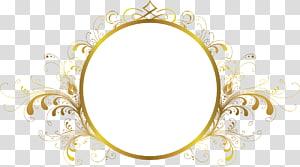 Arquivo de computador, moldura, redonda, ouro, floral, emoldurado, espelho, ilustração png