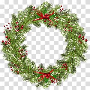 Guirlanda de Natal, guirlanda de Natal, guirlanda verde e vermelha PNG clipart
