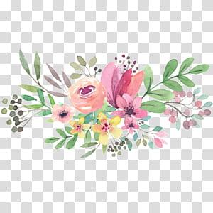 Convite de casamento dia das mães dia nacional dos avós, aquarela flores, flores de cores sortidas pintura PNG clipart