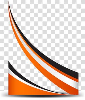 Linha de curva, borda laranja curva simples, gráfico vermelho, branco e preto PNG clipart
