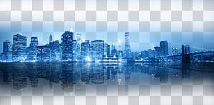 Skyline da cidade de Nova York, luzes brilhantes da noite de Hong Kong, skyline da cidade no nightime PNG clipart