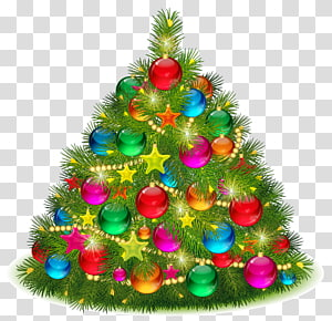 Árvore de Natal Dia de Natal, Árvore de Natal Decorada Grande, Árvore de Natal PNG clipart