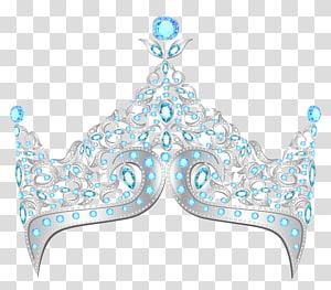 Coroa de princesa, coroa de diamante, gráfico de coroa de prata PNG clipart