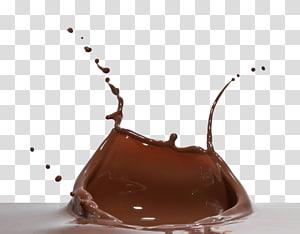 respingo de liqujid marrom, Milk-shake Chocolate quente Bolo de chocolate Creme, chocolate quente PNG clipart