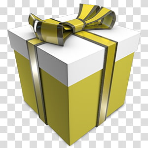 ilustração de caixa de presente amarelo e branco, presente de ângulo amarelo, presente 03 PNG clipart