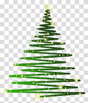 ilustração de árvore de Natal verde, árvore de Natal verde, árvore de Natal verde brilhante png