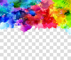 Pintura em aquarela, fundo abstrato Graffiti, rosa, verde e azul pintura abstrata PNG clipart