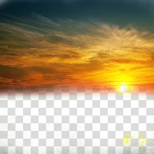 Céu vermelho na manhã laranja, bela nuvem de fogo s, pôr do sol PNG clipart