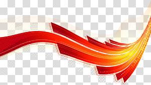 Linha curva vermelho Euclidiano, ciência colorida e linhas de fluxo linear de tecnologia em segundo plano PNG clipart