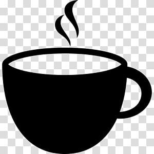 Café café gráficos escaláveis logotipo, xícara de café png