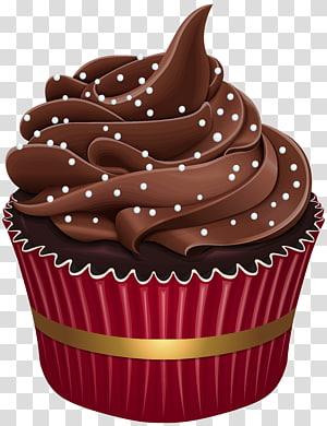 ilustração de cupcake de chocolate, Cupcake Muffin Macaron Bakery Torta, Cupcake png