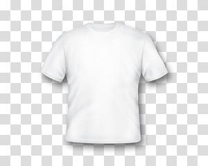 ilustração de camiseta de gola branca, roupas de manga de camiseta impressa, modelo de camiseta branca em branco PNG clipart