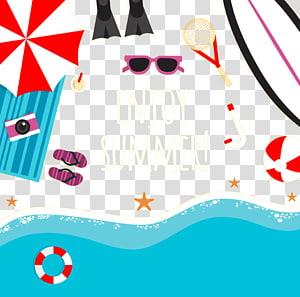 Aproveite a ilustração de verão, ilustração de verão, praia de verão PNG clipart