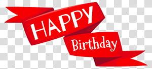 Bolo de aniversário desejo, feliz aniversário vermelho Banner, ilustração feliz aniversário png