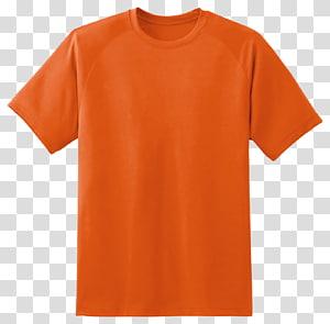 camiseta com gola laranja, camiseta com capuz, camiseta PNG clipart