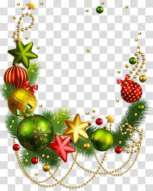 Rudolph Christmas decoration Papai Noel enfeite de Natal, decoração de Natal, ganhos de Natal multicoloridos png