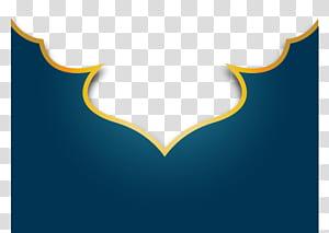 Islã, linhas azuis, motivos islâmicos, azul e amarelo PNG clipart