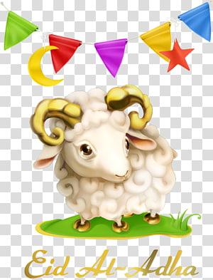 ilustração de ovelhas bege, Eid al-Adha Eid al-Fitr muçulmano Eid Mubarak Holiday, bandeiras de triângulo e ovelhas png