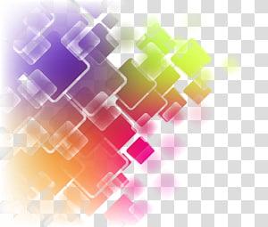 ilustração abstrata multicolorida], arte abstrata, curva de quadrados geométricos abstratos coloridos PNG clipart
