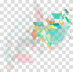 gráfico abstrato digital verde, amarelo e vermelho, Love de janeiro, blocos geométricos abstratos coloridos PNG clipart