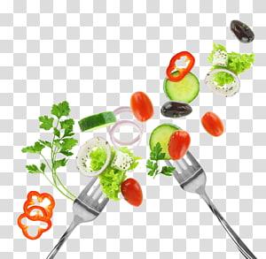vegetais variados e garfo, vegetais alimentos dieta saúde alimentar, legumes e garfo PNG clipart