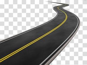 Estrada da estrada, desenhos animados pintados à mão estrada curva, ilustração de estrada ondulada png