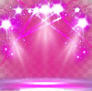 ilustração de luzes de palco rosa, iluminação de palco PNG clipart
