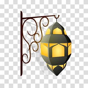 ilustração de lanterna de parede, caligrafia islâmica Ramadan Eid Mubarak Eid al-Fitr, lâmpada decorativa do Alcorão png