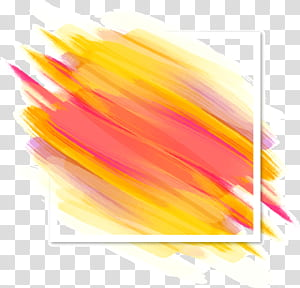 Brush Shading Color Euclidean, pinceladas de cor de fundo de sombreamento decorativo, pintura abstrata amarela e rosa png