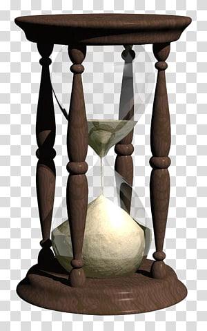 marrom emoldurado hora de vidro, ampulheta areia relógio temporizador, ampulheta 3D PNG clipart