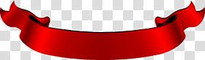 Fita vermelha Web banner, uma fita dobrável vermelha vintage, fita vermelha png