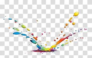 Gota de tinta cor de tinta, gotas de água de respingo de cor, respingos de tinta png