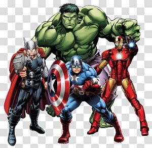 thor, capitão américa, homem de ferro e hulk, homem de ferro thor maravilha quadrinhos maravilha universo cinematográfico história em quadrinhos, avangers PNG clipart