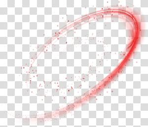 Ponto de ângulo do círculo, efeito de luz dinâmico estrela mágica vermelha, close-up do número 9 PNG clipart