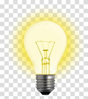 ilustração de lâmpada LED amarela, lâmpada incandescente Lâmpada elétrica Iluminação, Lâmpada elétrica PNG clipart