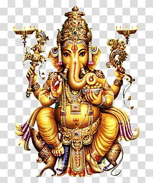 ilustração de estátua de ganesh de ouro, Shiva Ganesha Parvati Kali Deity, hindu PNG clipart