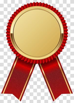 Fita, medalha de ouro com fita vermelha, logotipo da fita vermelha e dourada, adivinhando a imagem do jogo png