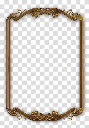 Linha de molduras, Moldura clássica em ouro, Moldura retangular dourada PNG clipart